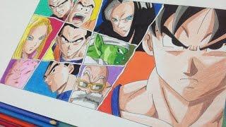 Speed Drawing Universe 7 Team | Dibujando al Equipo del Universo 7  - Dragonball Super
