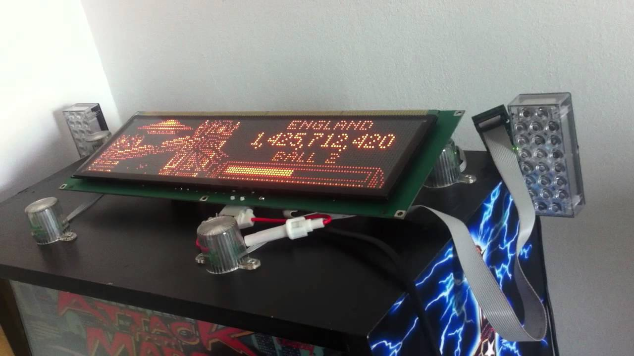 Hyperpin Cabinet Running Real 12v Plasma DMD - YouTube