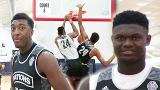 Zion Williamson vs Kyree Walker the battle between Two Future NBA PLAYERS