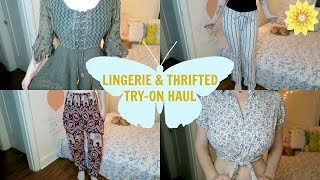 HUGE LINGERIE + THRIFT STORE TRY-ON HAUL | MEGHAN HUGHES