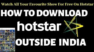How To Download Hotstar App Outside INDIA For Free👍Easy Way To Download Hotstar App😇