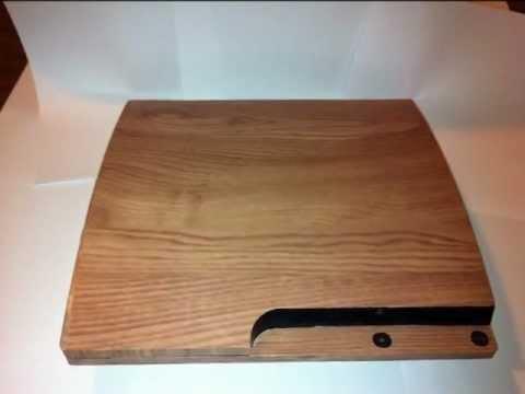 PlayStation 3 Slim skin wood