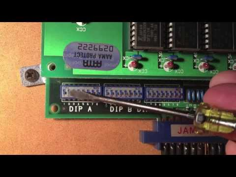 Street Fighter II Arcade Dip Switch Settings FREE PLAY