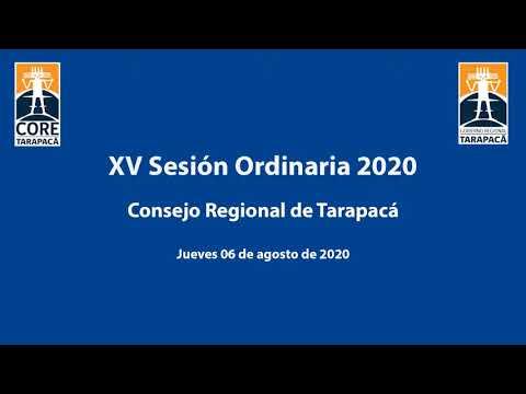 15a sesión ordinaria 2020 - Consejo Regional Tarapacá
