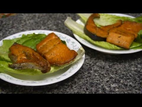 Ua nqaj ntseg salmon noj qaab heev.  How to cook salmon