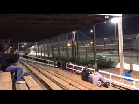 Kankakee county speedway cody burson flipes 10 times