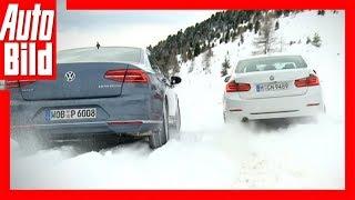 Wintertest BMW 3er gegen VW Passat (2015)