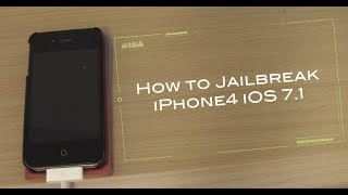 iOS 7.1 仮脱獄方法 for iPhone4 How to Jailbreak iOS 7.1
