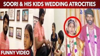 Soori & his kids ultimate comedy watching soori's Wedding album | Funny Video | Try not to laugh