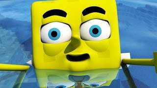 One of FuturisticHub's most viewed videos: ♫ SPONGEBOB IN MINECRAFT 3! ♫ (3D Animation)