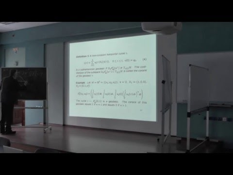 Andrei Agrachev - Some properties of generic Subriemannian spaces
