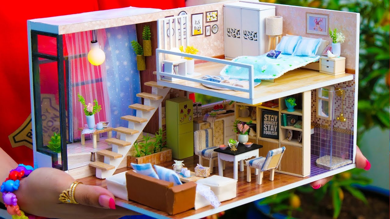 6 Diy Miniature Doll House Rooms Youtube