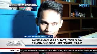 Mindanao grad, top 3 sa criminologist licensure exam