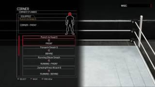 WWE 2K17:Rob Van Dam moveset(Xbox 360/PS3)