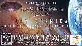 Ley Cosmica, Evoluzione Umana - BARCELLONA