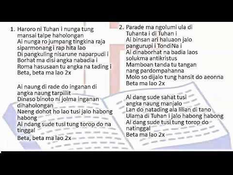 Haroro ni Tuhan i - Lagu GPI Pentakosta