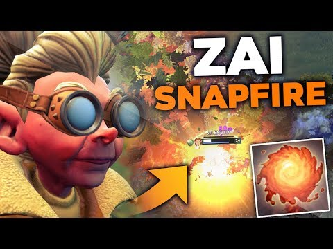 BEST PRO PLAYER ON SNAPFIRE ALREADY?! Zai EPIC Snapfire Gameplay Patch 7.23 Dota 2