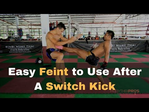 Muay Thai Beginner Tip - Easy Feint to Land a Rear Push Kick