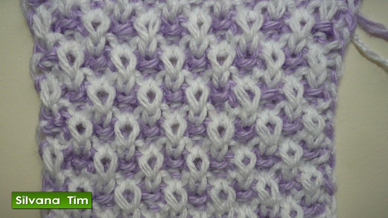 Punto puntada arroz de 2 colores bicolor tejido con - Puntos faciles para tejer con dos agujas ...