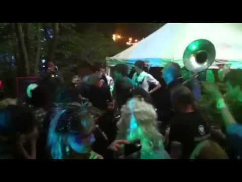 Horndog brass band at bestival