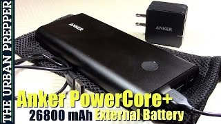 Anker PowerCore+ 26800 mAh External Battery Review