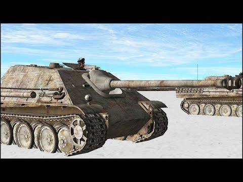 5 JAGDPANTHER vs ENTIRE TANK BATTALION - Is It Nuts? Combat Mission Final Blitzkrieg Gameplay