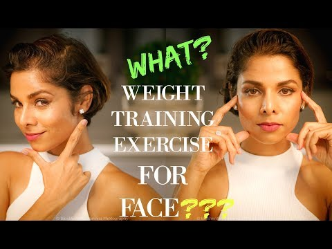7 FACE EXERCISES TO LOSE CHEEK FAT (2018)/ FACE WEIGHT TRAINING METHOD