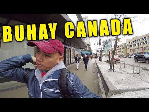 Winter Walk in Winnipeg Downtown, Buhay Canada