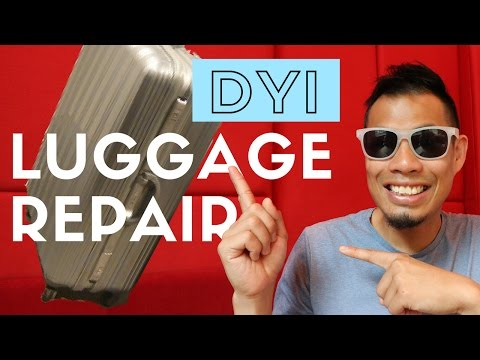 DIY Luggage Repair - How to FIX Broken Luggage with Sugru