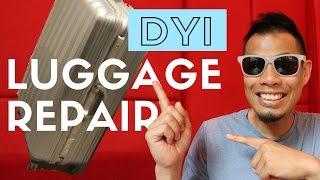 DIY Luggage Repair - How to FIX Broken Luggage with Sugru