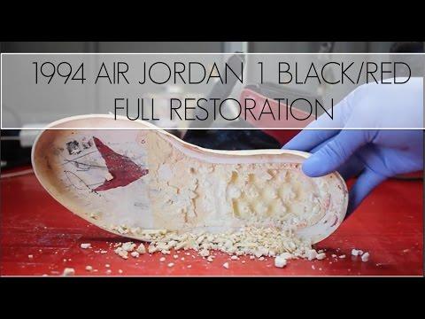 1994 Air Jordan Black/Red I Full Restoration