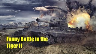 WoT Blitz | Funny Battle in the Tiger II