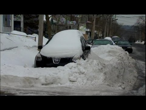 Northeast Residents Walloped by Winter Storm