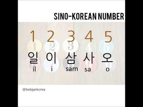 Pronounce Sino-Korean Numbers : 1-10