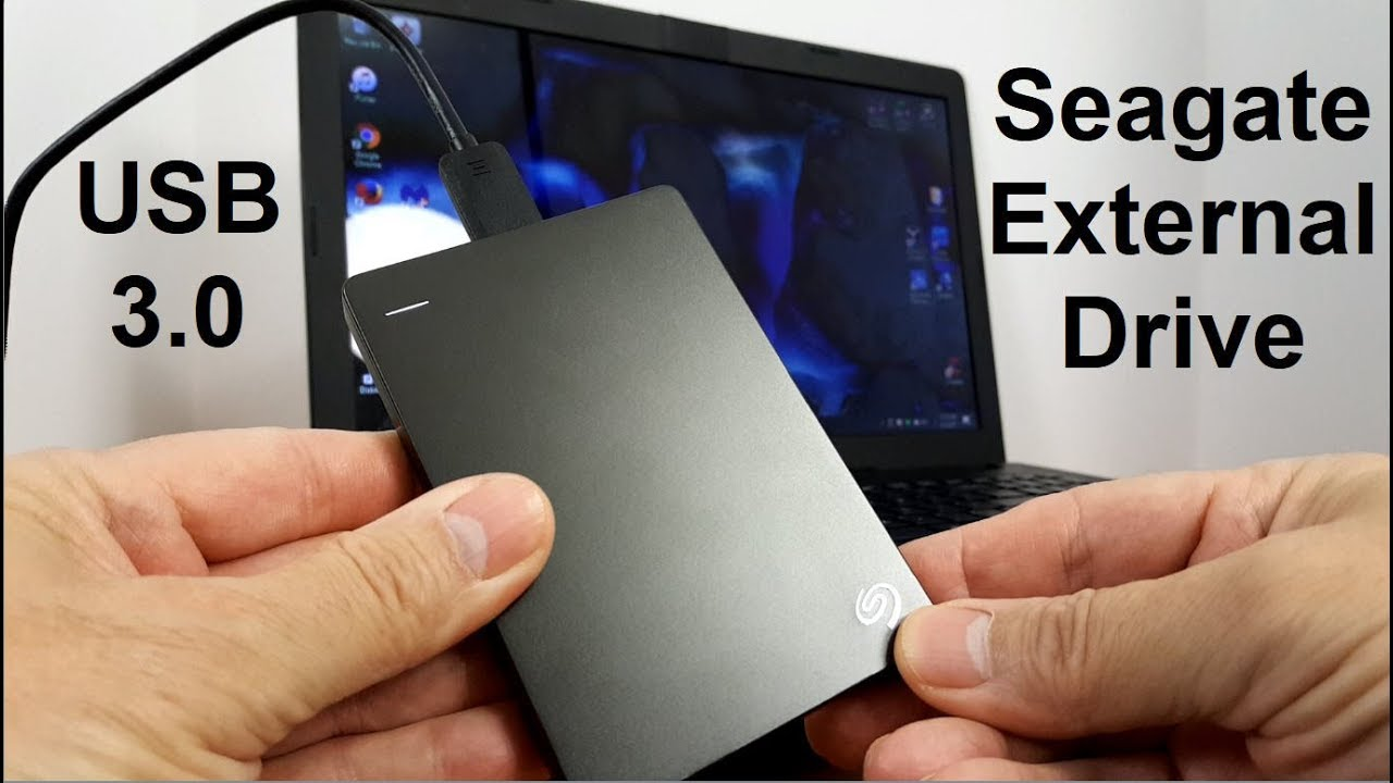 Seagate backUp plus Slim 1tb/2tb/4tb - USB Portable Storage drive - Fast  Review!