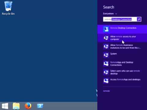 Enable Remote Desktop Connection - Windows 8.1