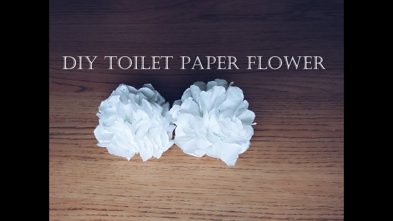 Diy toilet paper flower youtube mightylinksfo