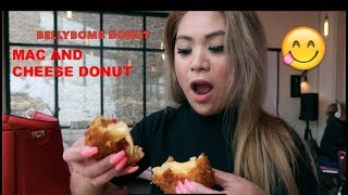 TRYING THE MAC AND CHEESE DONUT!!!!!