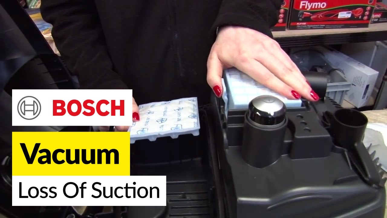 how to fix loss of suction in bosch vacuum cleaner youtube