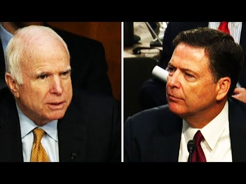 John McCain's COMPLETELY INCOHERENT Attempt To Question James Comey