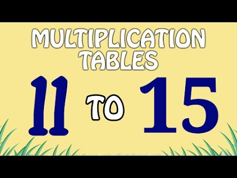 Multiplication Tables 11 To 15 | Multiplication Songs For Kids | Fun And Learn