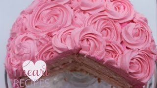 Vanilla Rose Swirl Cake - I Heart Recipes