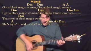 Black Magic Woman - Guitar Cover Lesson in Dm with Chords/Lyrics