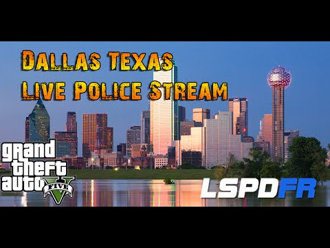 GTA 5 LSPDFR - LIVE STREAM Dallas Texas Police Radio - Real Vocal Dispatch