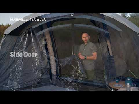 Outwell Roseville 4SA & 6SA - Inflatable Air Tent (2020) | Innovative Family Camping