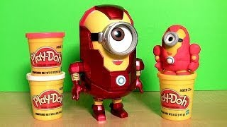 Marvel the Avengers Minion Stuart Iron Man Action Figure Play doh how-to by Blutoys Tony Stark