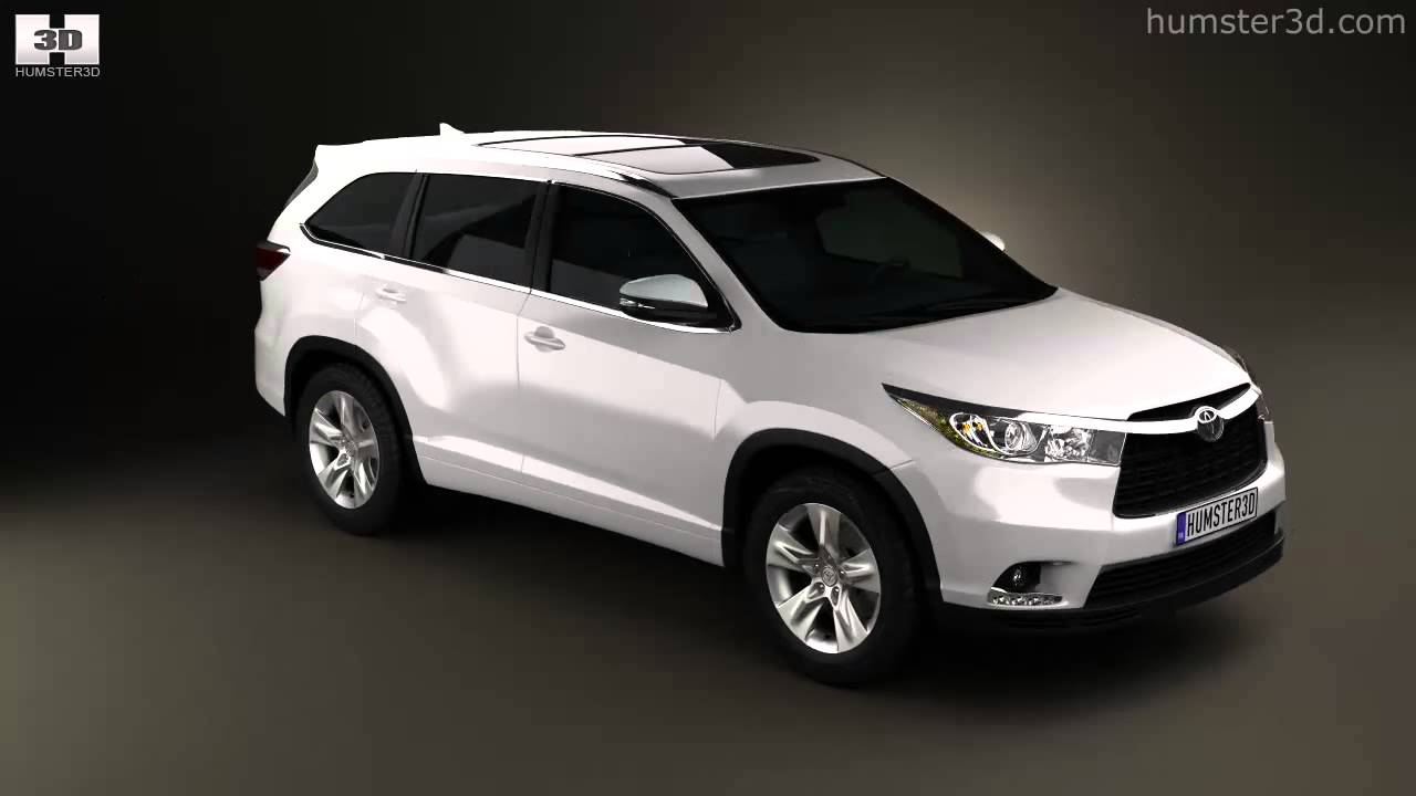 Toyota Highlander 2014 by 3D model store Humster3D.com - YouTube