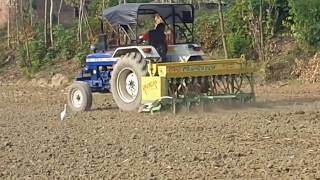 Tactor and Rice Planting by Seeding