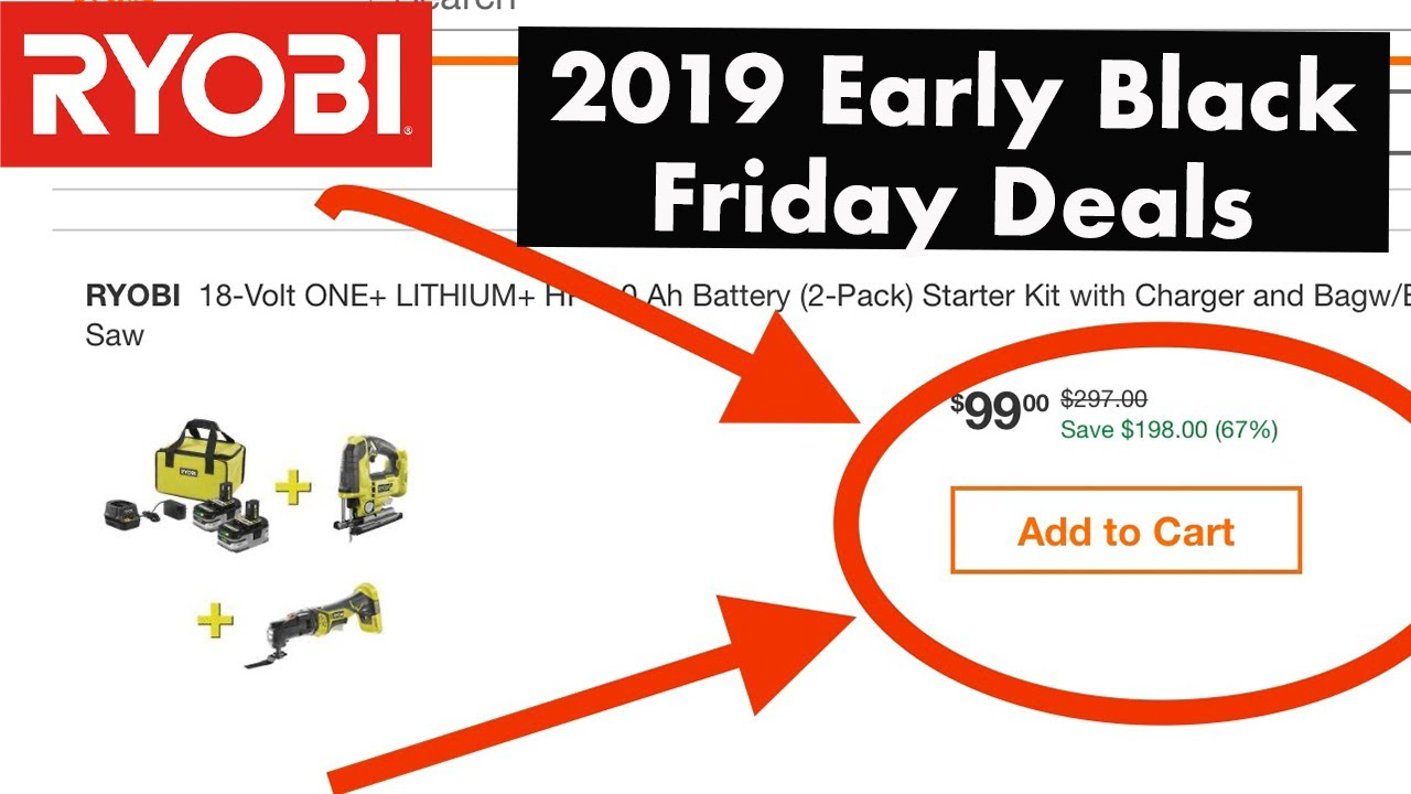 Amazing Ryobi 2019 Black Friday Bogo Deal Two Free Tools Youtube