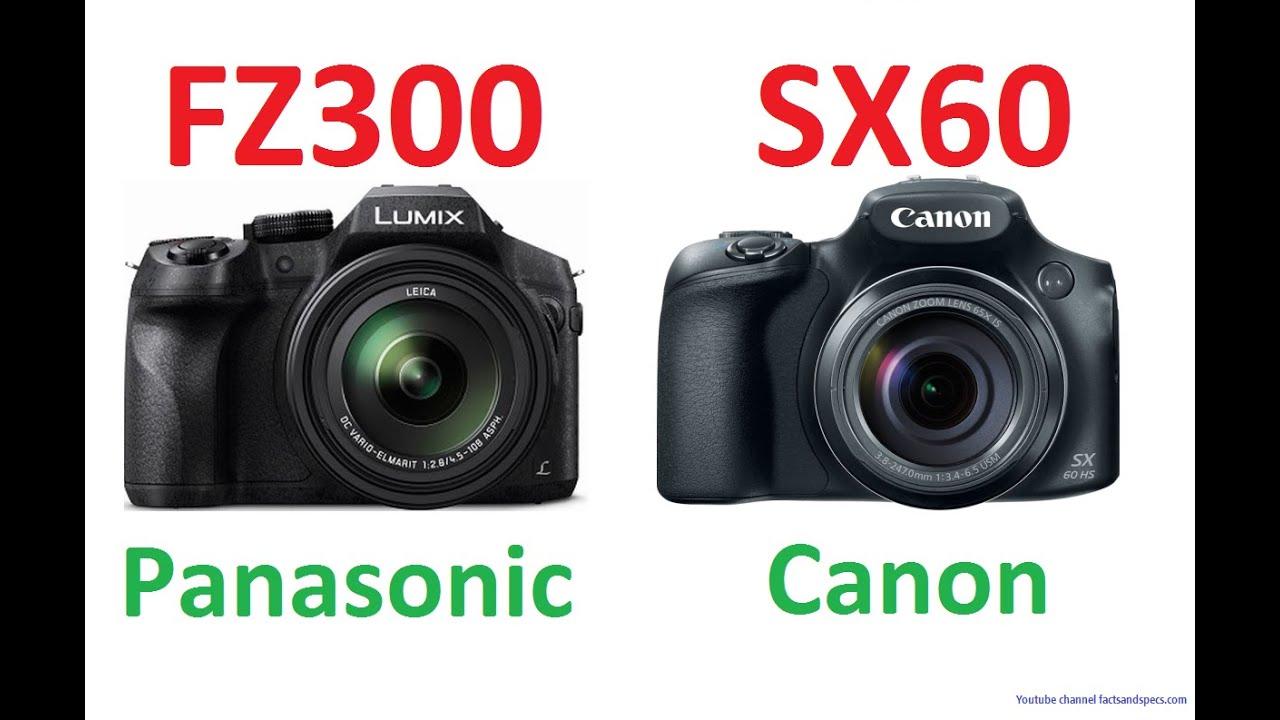 panasonic lumix dmc fz300 vs canon powershot sx60 hs youtube